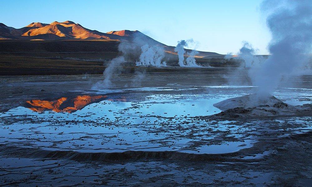 Luces, géiseres y oasis en el desierto de Atacama