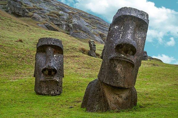 Chile Isla de Pascua Moais