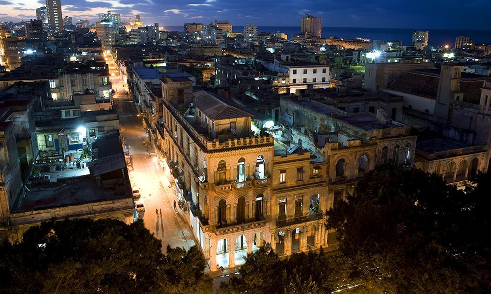 Cuba Habana Casto Histórico Noche