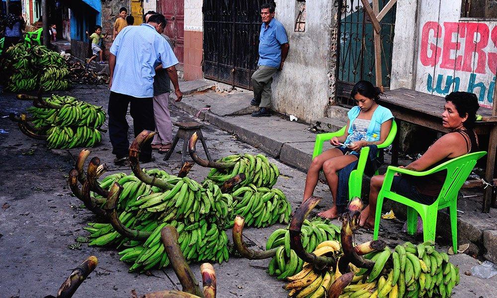 Mercado callejero Iquitos